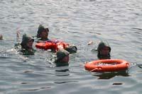 O naufraxio: rescate